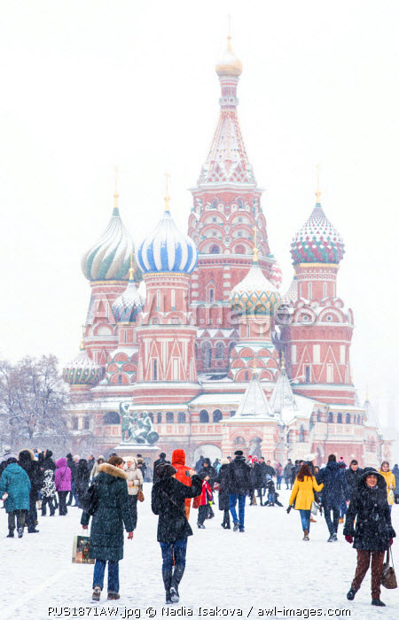 Saint Basil's cathedral on the Red Square, Moscow, Russia