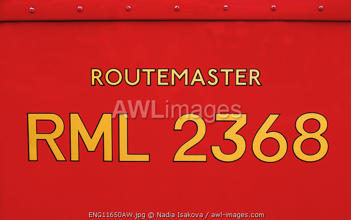 Details of the iconic Routemaster, Finsbury Park, London, UK