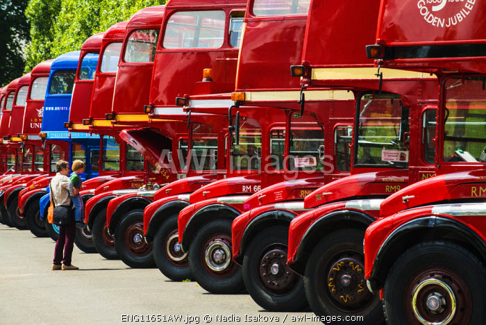 Iconic Routemasters at their 60th anniversary, Finsbury Park, London, UK
