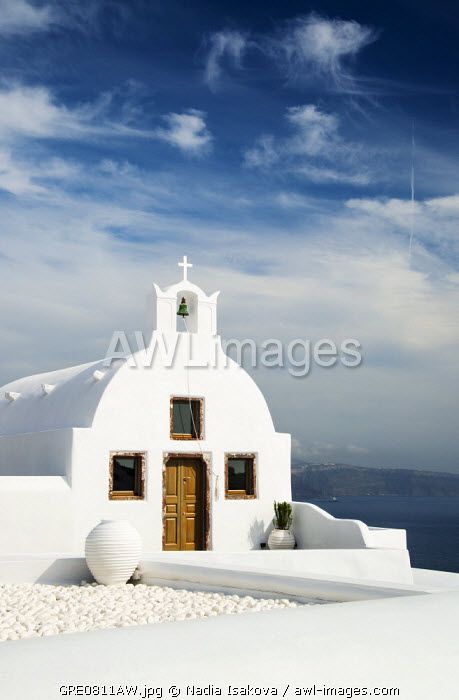 A church in Oia, Santorini (Thira), Greece