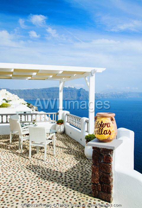 A view towards Fira, Oia, Santorini, Greece