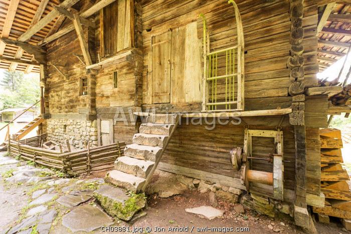Farmhouse from the Berner Oberland area, Swiss Open-Air Museum, Ballenberg, Berner Oberland, Switzerland
