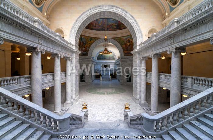 U.S.A., Utah, Salt Lake City, Utah State Capitol Building