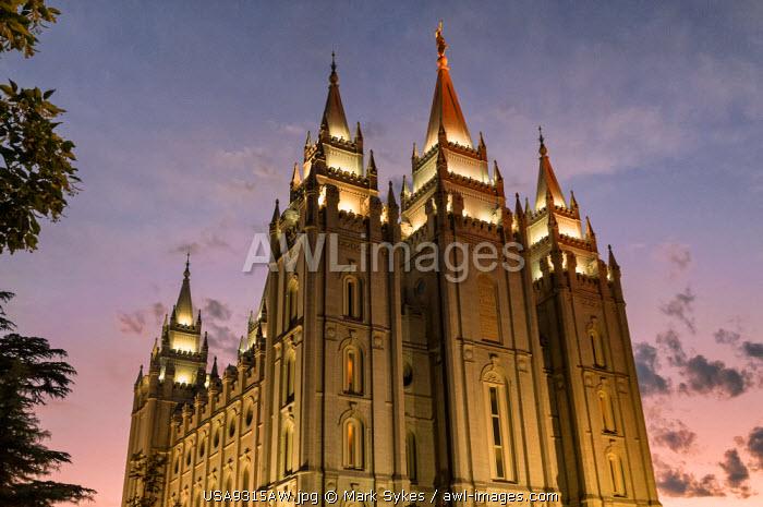 U.S.A., Utah, Salt Lake City, Salt Lake Temple