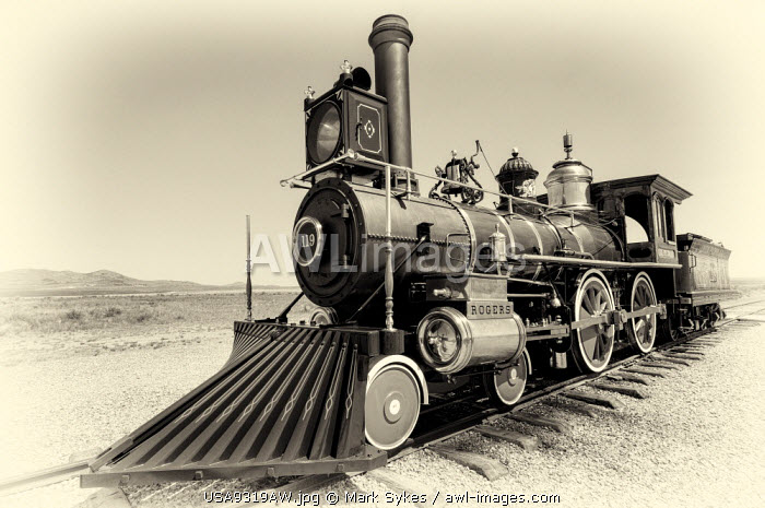 U.S.A., Utah, Golden Spike National Historic Site, Union Pacific No. 119