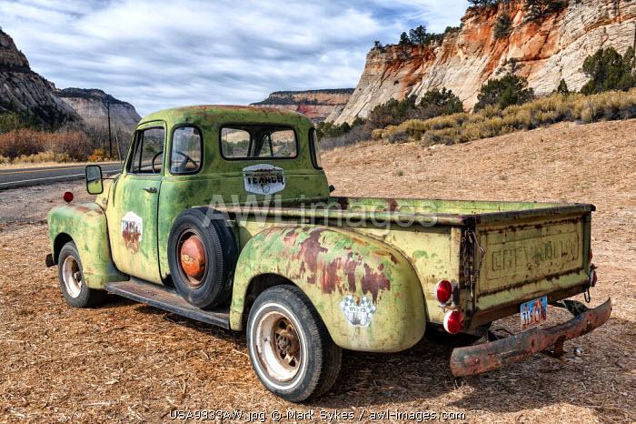 U.S.A., Utah, Zion National Park, Chevrolet Pickup