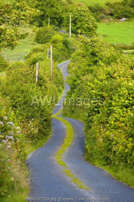 Republic of Ireland, Clare County, road in Burren area