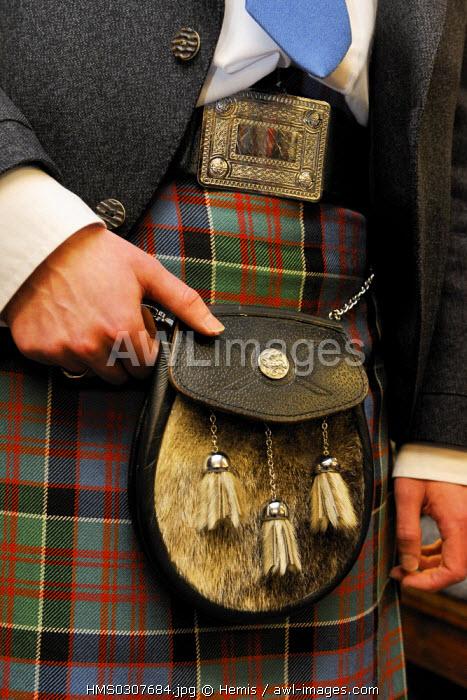 United Kingdom, Scotland, Highlands, Inverness, Highlands House of Fraser, Kilt maker and Supplier of Highlands Dress