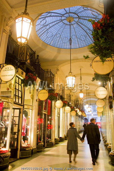 United Kingdom, London, Mayfair, Burlington Arcade at Piccadilly