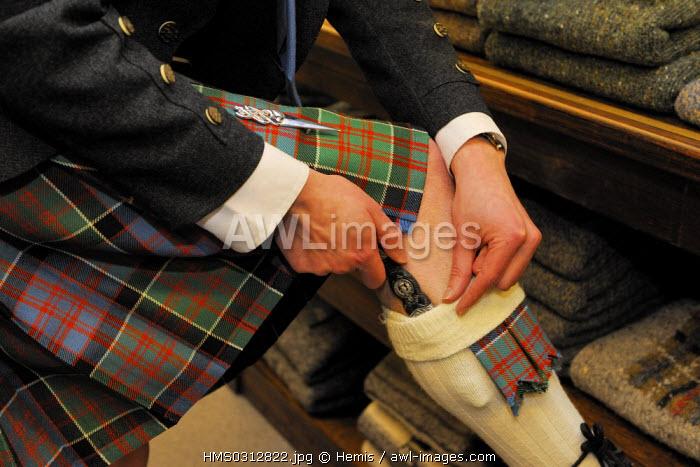 United Kingdom, Scotland, Highlands, Inverness, Highland House of Fraser, Kilt maker and Supplier of Highland Dress