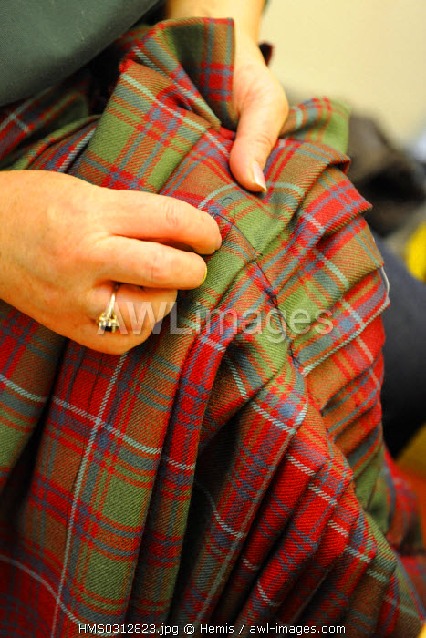 United Kingdom, Scotland, Highlands, Inverness, Highland House of Fraser, Kilt maker and Supplier of Highland Dress, tartan of the Grant clan