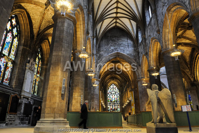 United Kingdom, Scotland, Edinburgh, listed as World Heritage by UNESCO, The Royal Mile, Saint Giles Cathedral
