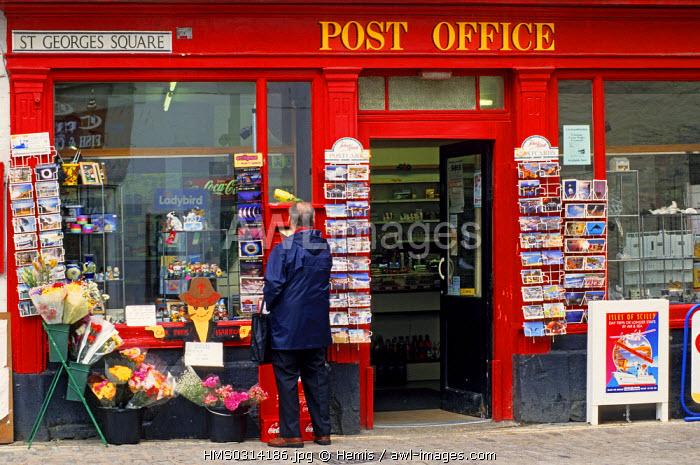 United Kingdom, Cornwall, Megavissey, Post Office at the fishing harbour