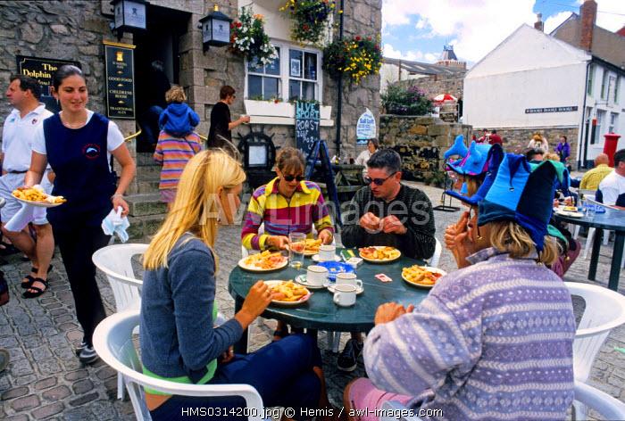 United Kingdom, Cornwall, Penzance, cafe