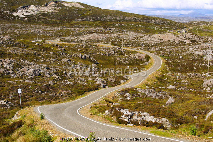 United Kingdom, Highlands, Outer Hebrides, Isle of Harris, South East Coast, Golden Road