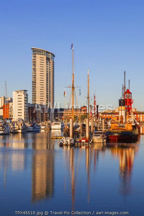Wales, Glamorgan, Swansea, Swansea Docks, Regenerated Residential Area