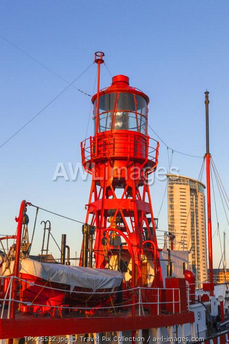 Wales, Glamorgan, Swansea, Swansea Docks, National Waterfront Museum, Lighthouse Ship