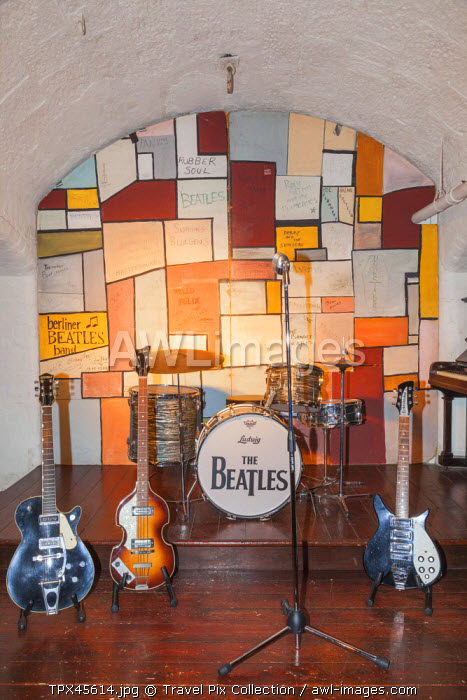 England, Merseyside, Liverpool, Albert Dock, The Beatles Story, Interior Exhibit of Recreated Stage of The Cavern Club
