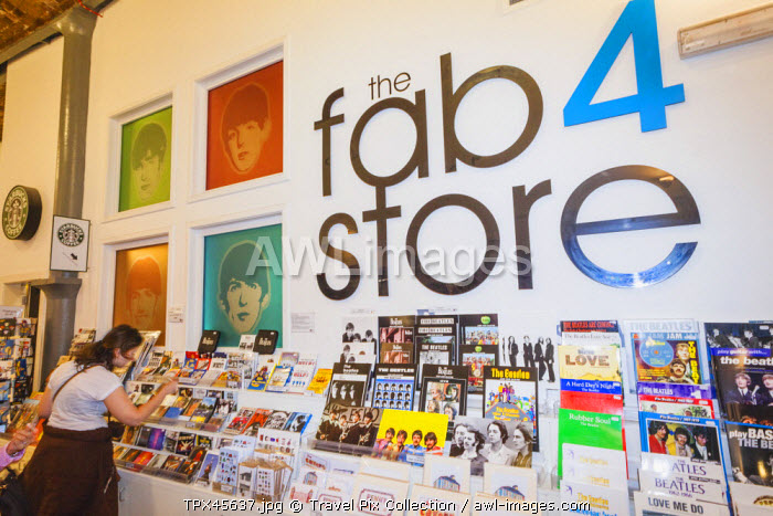 England, Merseyside, Liverpool, Albert Dock, The Beatles Story, The Fab Four Store, Tourist Shopping