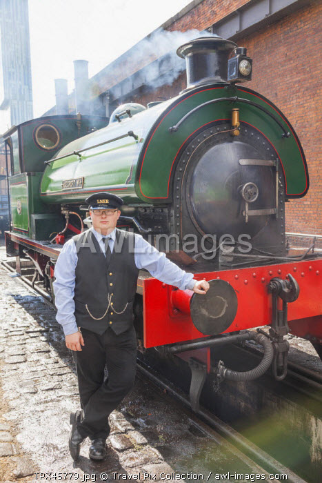England, Manchester, Museum of Science and Industry aka MOSI, Historic Steam Train