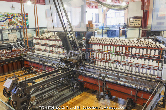 England, Manchester, Museum of Science and Industry aka MOSI, Exhibit of Historical Weaving Looms