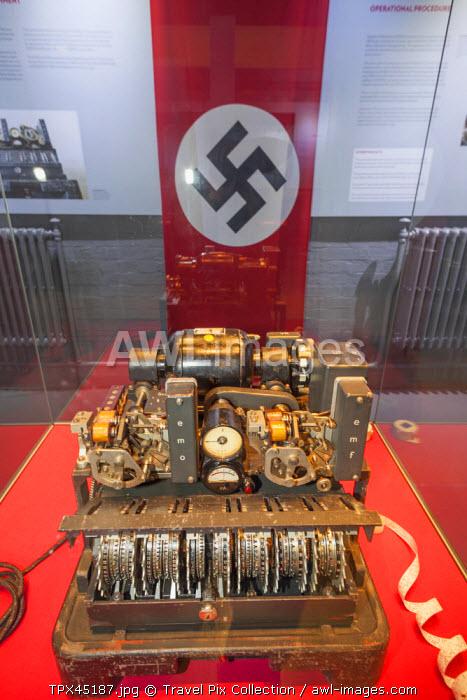 England, Buckinghamshire, Bletchley, Bletchley Park, WWII German Lorenz Cipher Machine