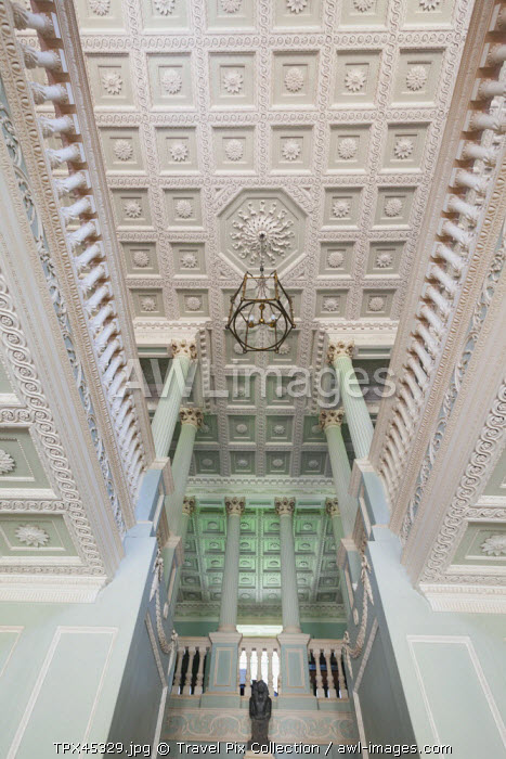 England, Hampshire, Basingstoke, The Vyne Estate, The Staircase Hall