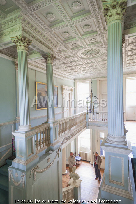 England, Hampshire, Basingstoke, The Vyne Estate, The Staircase Hall