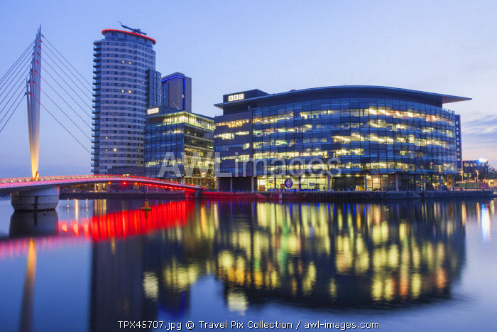 England, Manchester, Salford, The Quays, Media City