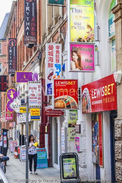 England, Manchester, Chinatown, Street Scene