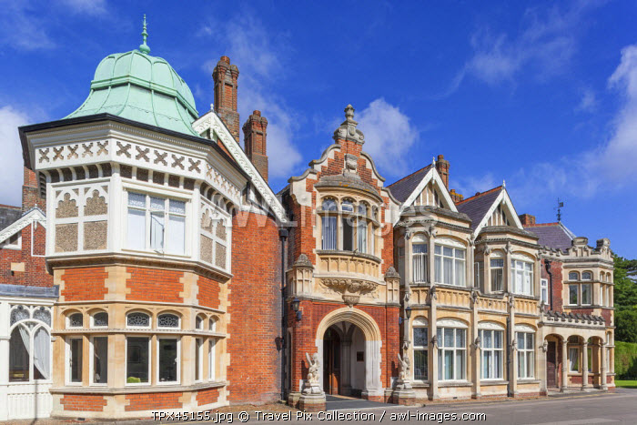 England, Buckinghamshire, Bletchley, Bletchley Park, The Mansion