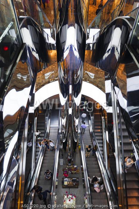 Australia, New South Wales, NSW, Sydney, The Westfield, shopping center, escalators