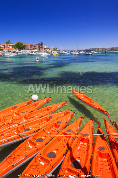 Australia, New South Wales, NSW, Sydney, Manly, Manly Cove, kayaks