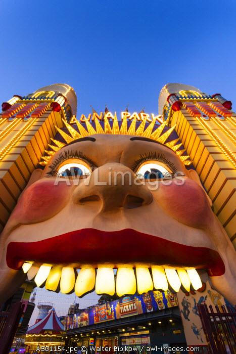 Australia, New South Wales, NSW, North Sydney, Milson's Point, Luna Park entrance