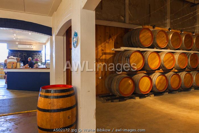 Australia, South Australia, Fleurieu Peninsula, McLaren Vale Wine Region, McLaren Vale, Rosemount Estate Winery, wine barrels
