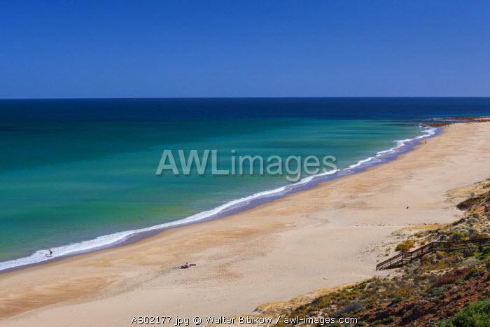 Australia, South Australia, Fleurieu Peninsula, Port Willunga, elevated beach view