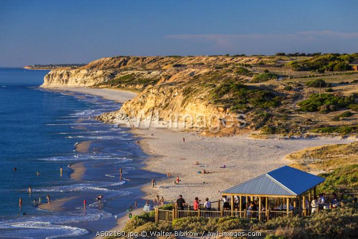 Australia, South Australia, Fleurieu Peninsula, Port Willunga, sunset