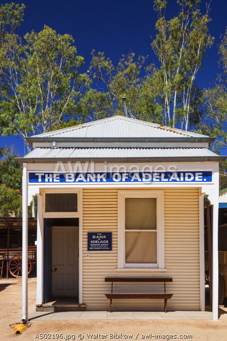 Australia, South Australia, Murray River Valley, Loxton, Loxton Historical Village, Bank of Adelaide building
