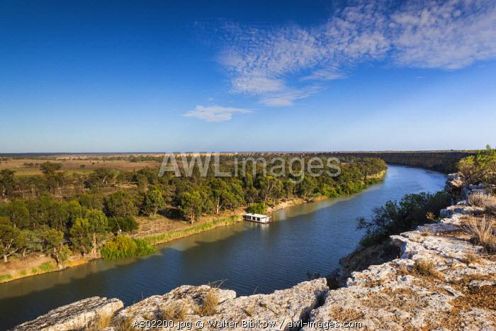 Australia, South Australia, Murray River Valley, Swan Reach, Murray River, elevated view