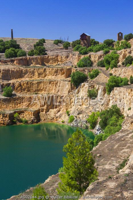 Australia, South Australia, Burra, former copper mining town, Burra Mine pit