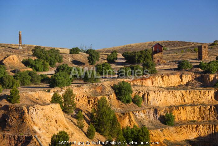 Australia, South Australia, Burra, former copper mining town, Burra Mine pit, sunset