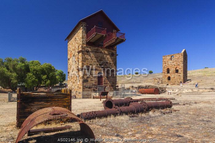 Australia, South Australia, Burra, former copper mining town, Burra Mine, Morphett's Engine House, exterior