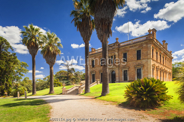 Australia, South Australia, Clare Valley, Mintaro, Martindale Hall, 1880 mansion that was seen in the 1975 Peter Weir film, Picnic at Hanging Rock