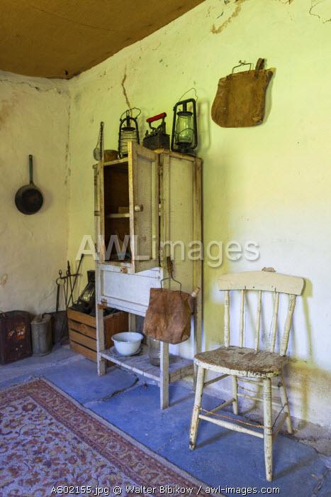 Australia, South Australia, Clare Valley, Penwortham, John Horrock's Cottage built by area pioneer in 1839, interior