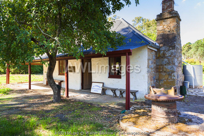 Australia, South Australia, Clare Valley, Penwortham, John Horrock's Cottage, built by area pioneer in 1839, exterior