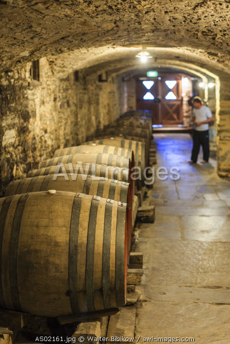Australia, South Australia, Clare Valley, Sevenhill, Sevenhill Cellars, last remaining Jesuit-owned winery in Australia, founded in 1851, wine cellar