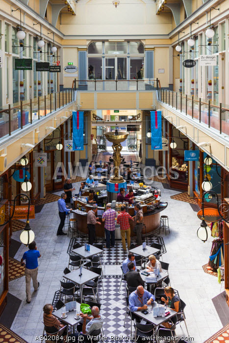 Australia, South Australia, Adelaide, Adelaide Arcade, antique shoppping mall, interior