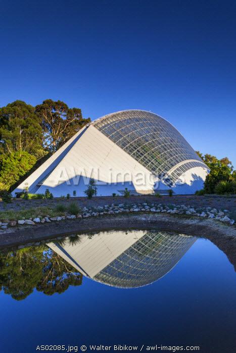 Australia, South Australia, Adelaide, Adelaide Botanic Garden, Bicentenial Conservatory, tropical rainforest greenhouse