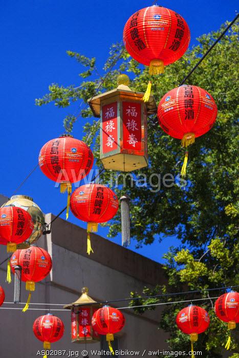 Australia, South Australia, Adelaide, Adelaide Central Market, Chinese lanterns
