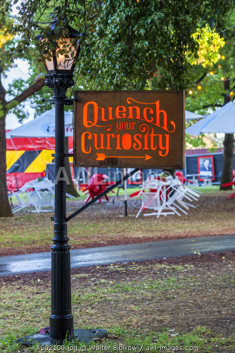 Australia, South Australia, Adelaide, Rundle Park, The Garden of Unearthly Delights, Quench Your Curiosity, sign